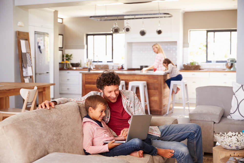 energy conscious family at home