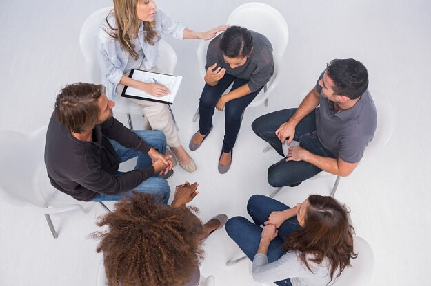 meeting about addiction