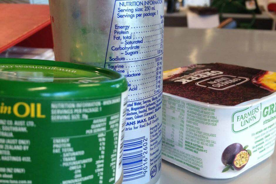 Guide to Australian food labelling
