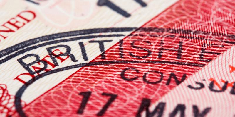 UK visa stamp