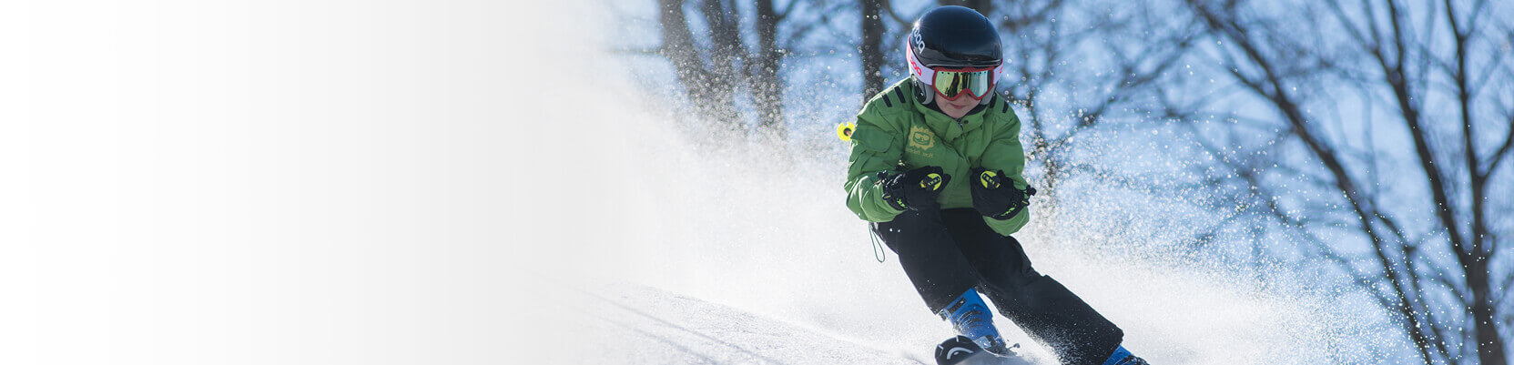Skier making their way downhill