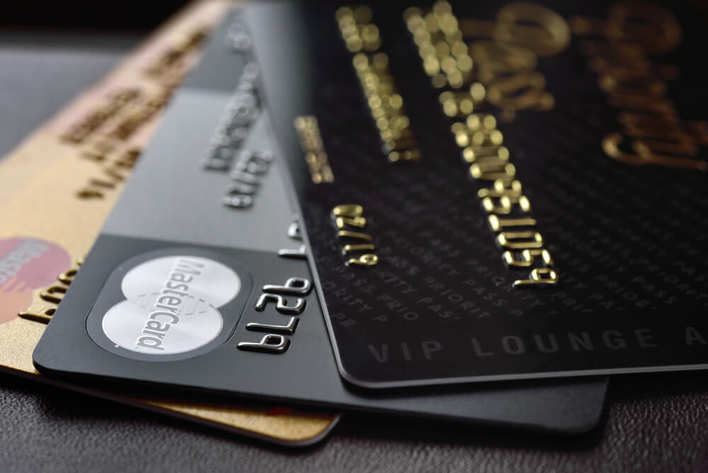 two black credit cards