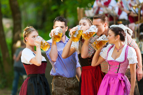 Having a drink in Germany