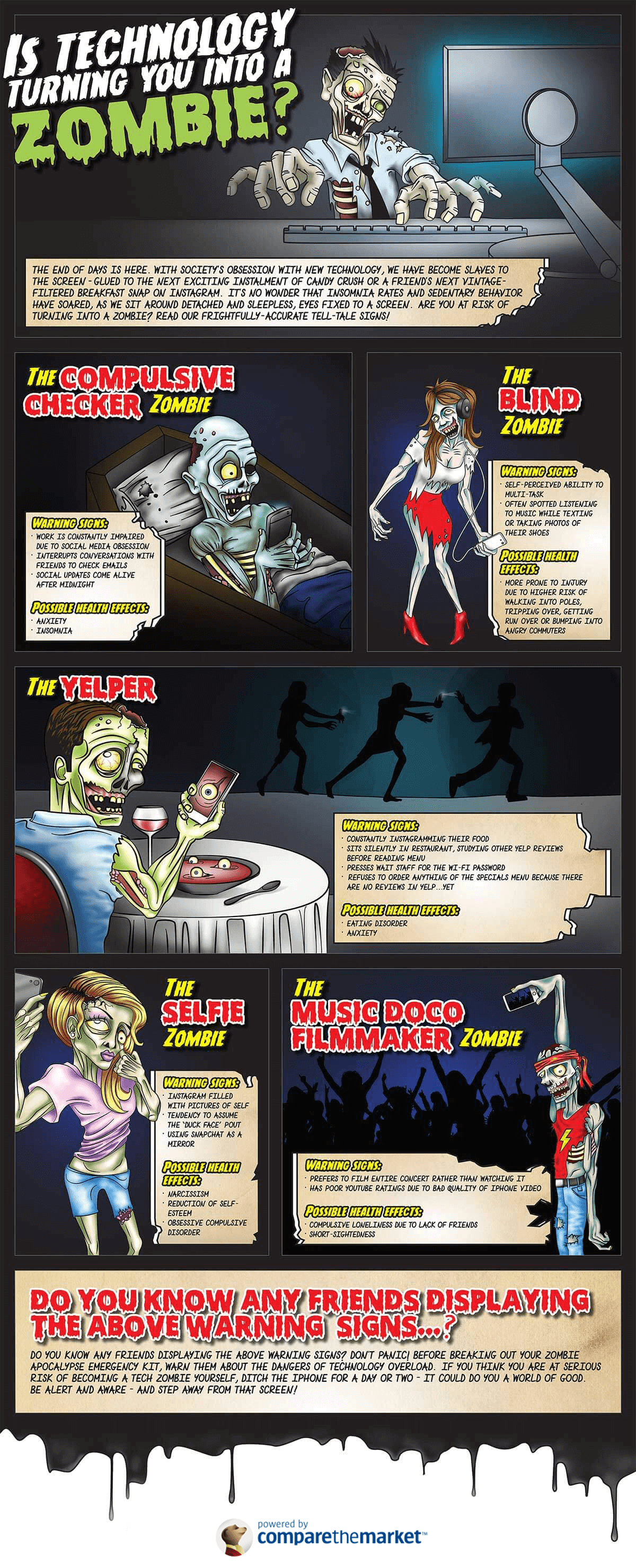 Is Technology Turning You Into A Zombie Infographic