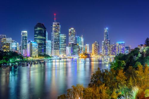 View of Brisbane at night