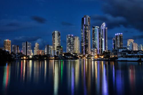 View of Gold Coast at night