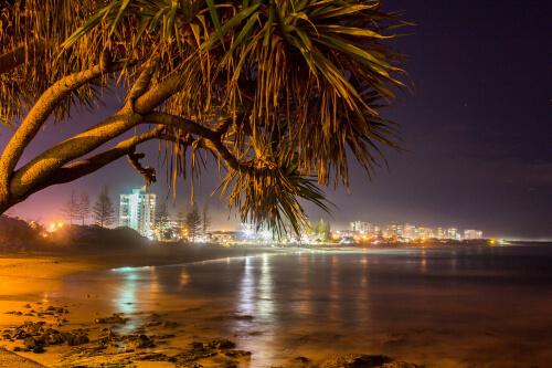 View of Sunshine Coast at night