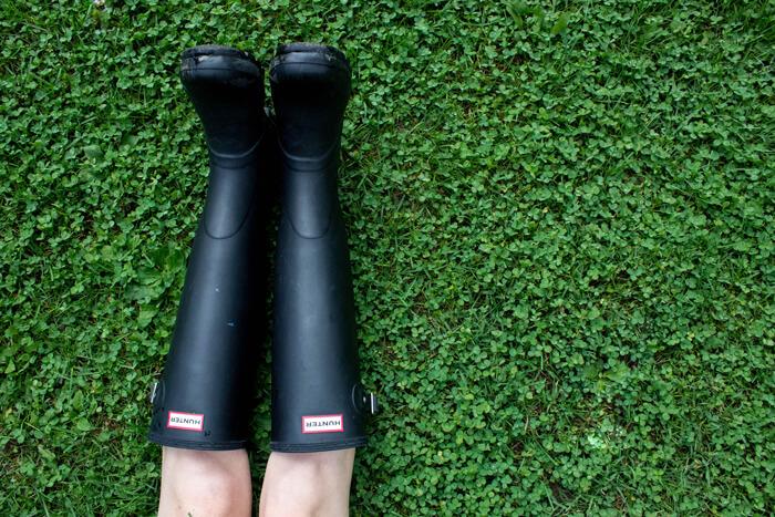 Feet in wellies