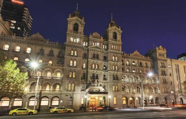 Exterior of the Hotel Windsor in Melbourne