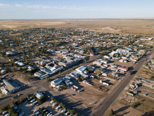 Aerial view of Winton