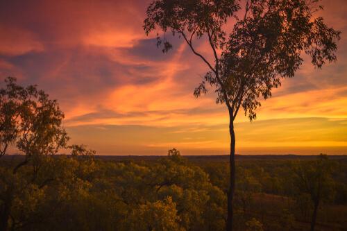 Sunset over Australian Outback