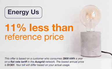 example energy advertising reference price