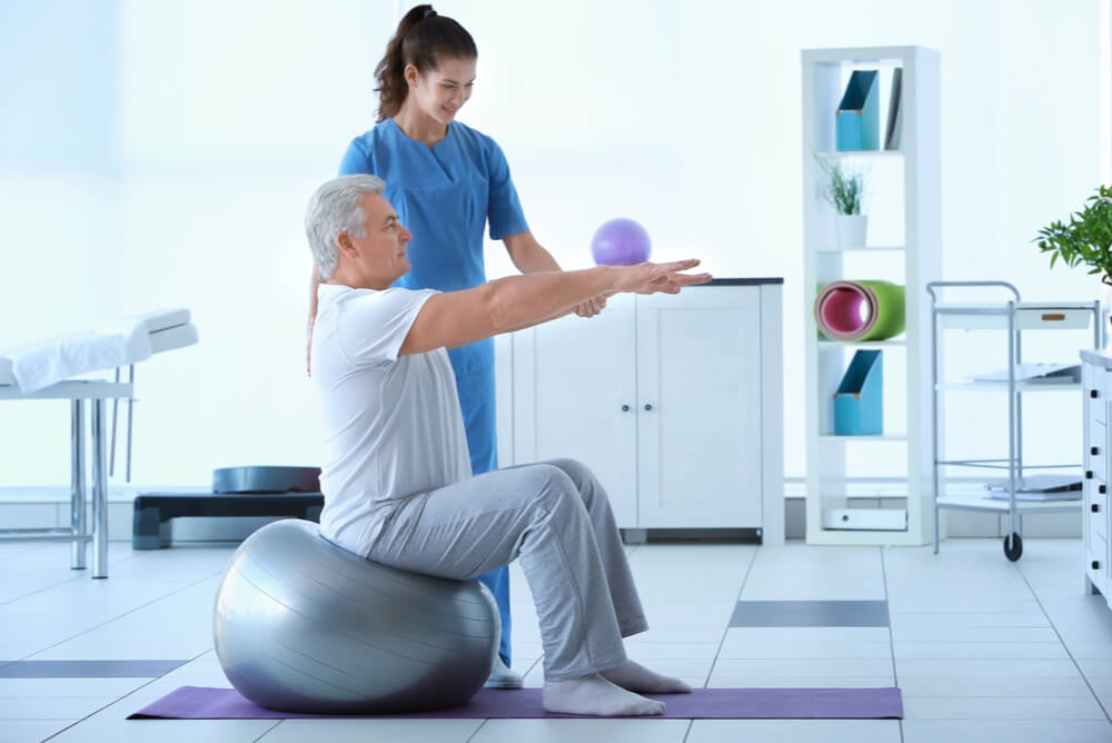 inpatient receiving rehabilitation therapy