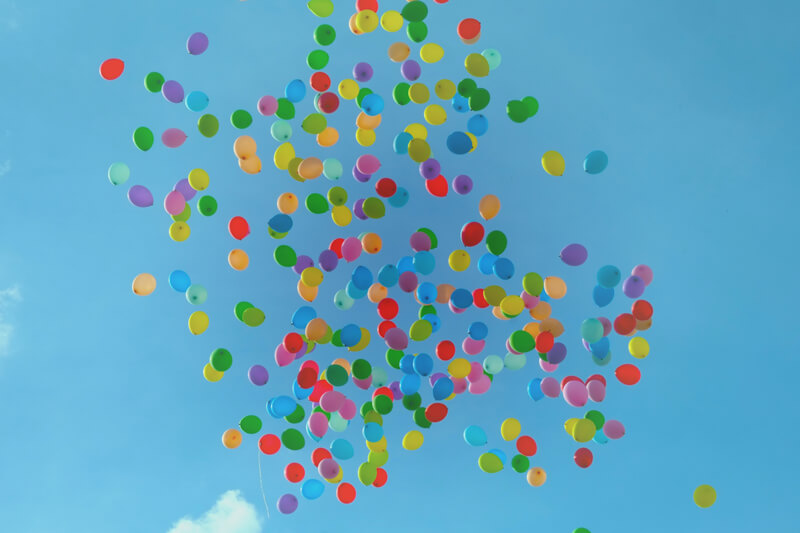 Balloons released into the air