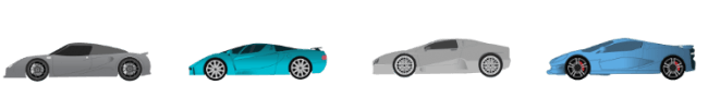 Car shapes throughout the 2000s and 2010s.