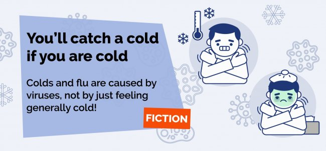You will not catch a cold if you are cold.