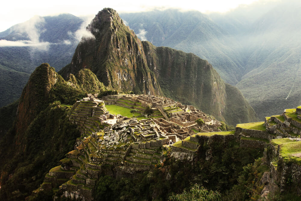 Machu Picchu Inca Lost city in mist