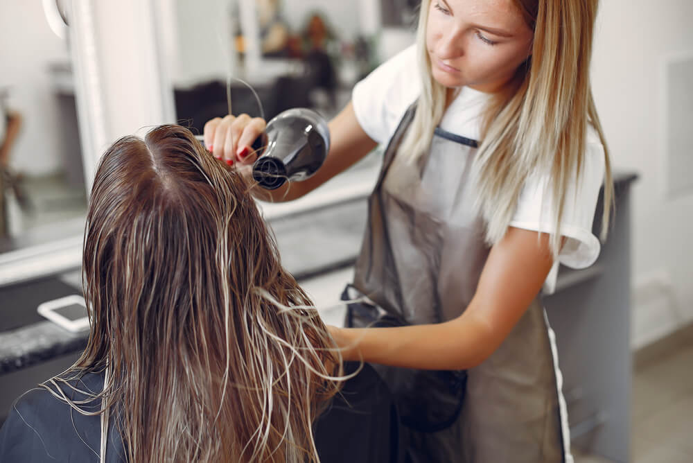Hairdresser with professional indemnity insurance