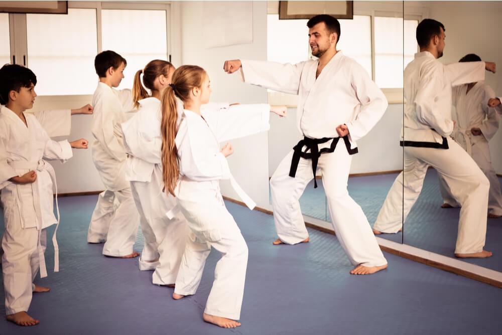 A karate class for kids.