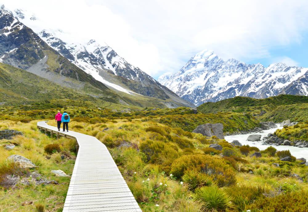 Aoraki Mount Cook National Park in New Zealand
