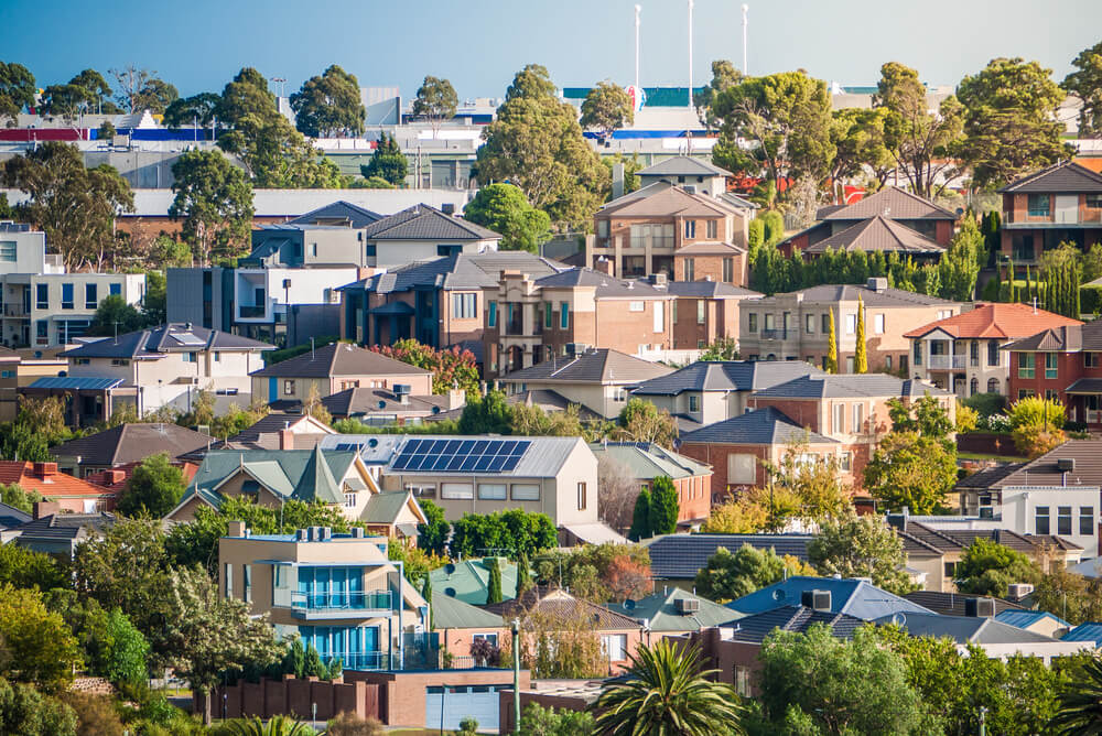 view of suburban homes in City of Maribyrnong, Melbourne