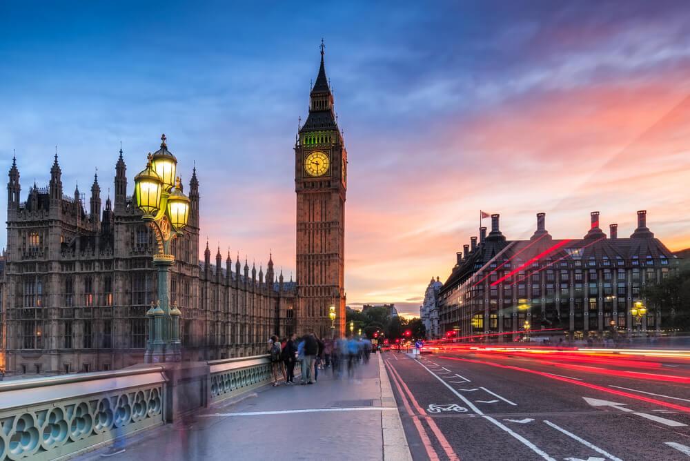 Big Ben at sunset in London