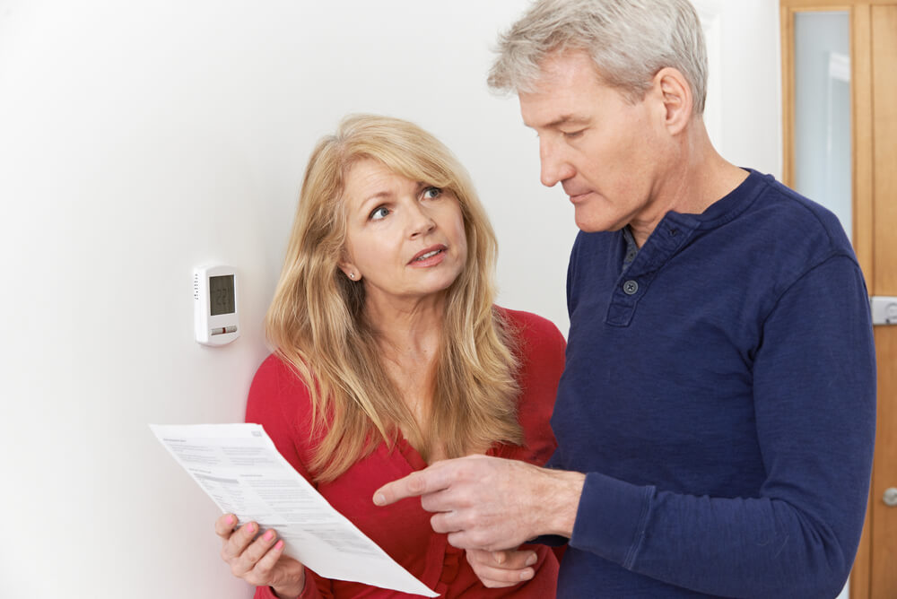 older couple reducing their energy bill