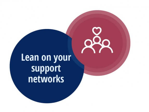 Lean on your support networks