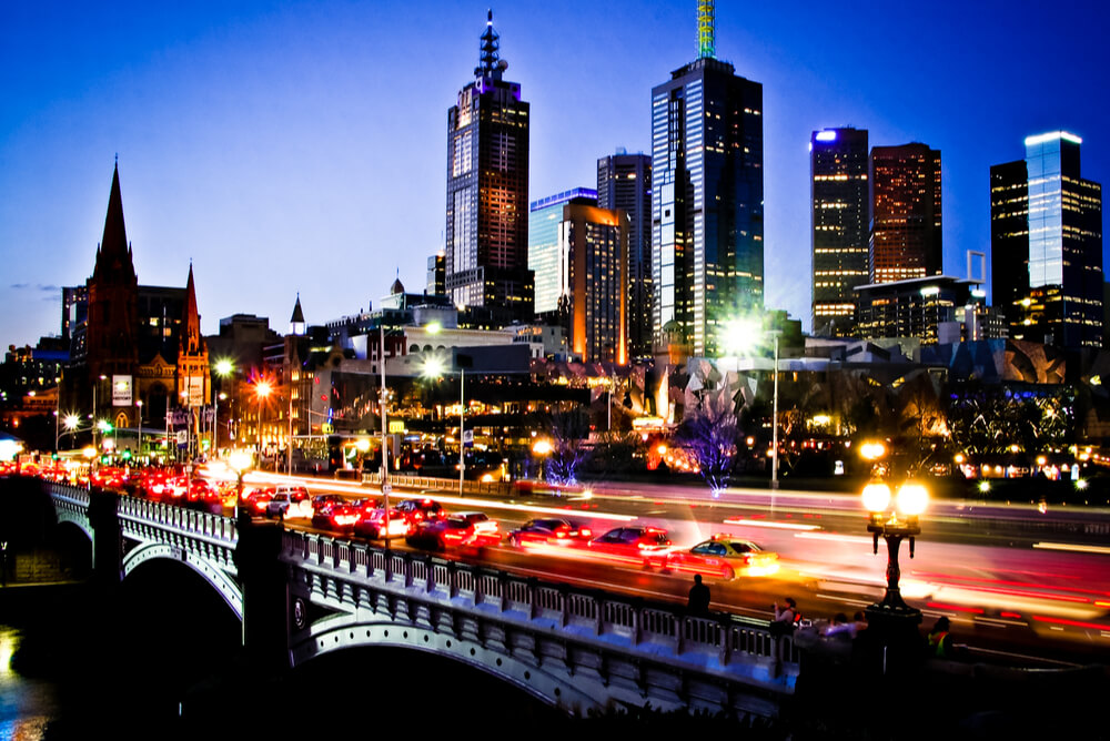melbourne by night representing electricity providers victoria