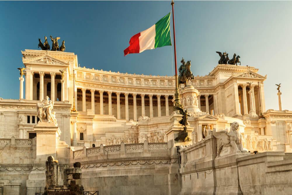 Italy flag at Vittoriano