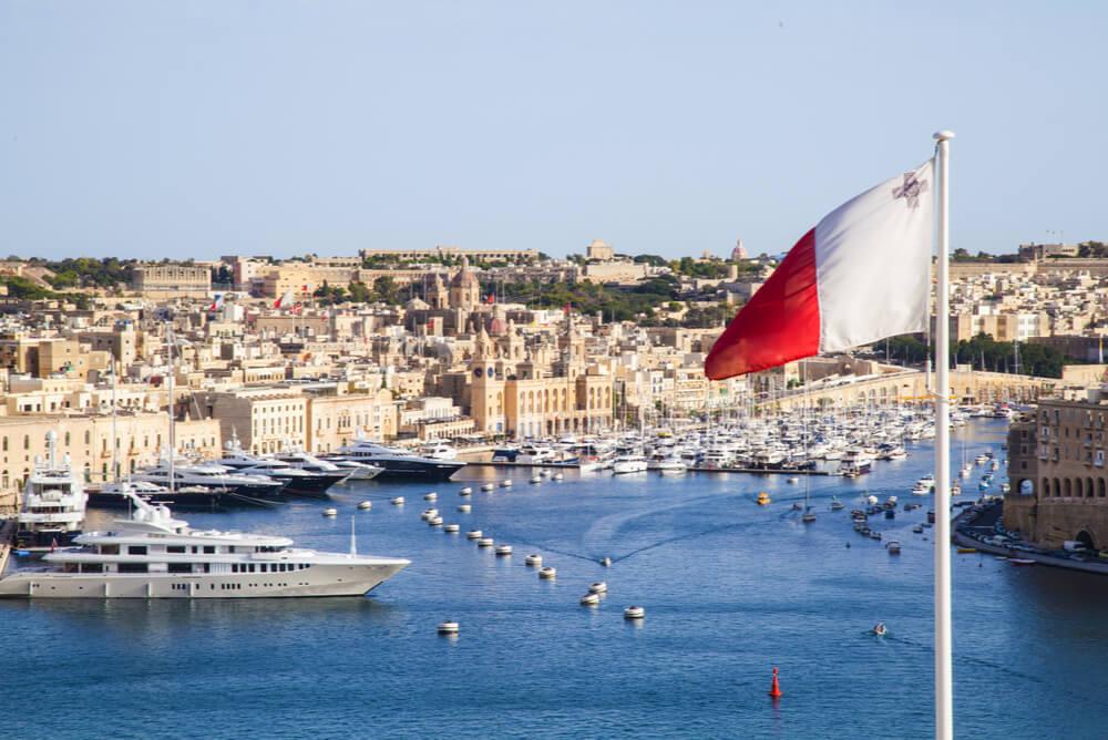 Malta flag at Port of Valletta