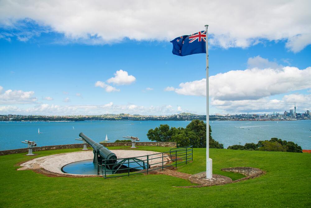 New Zealand flag in Devonport Auckland