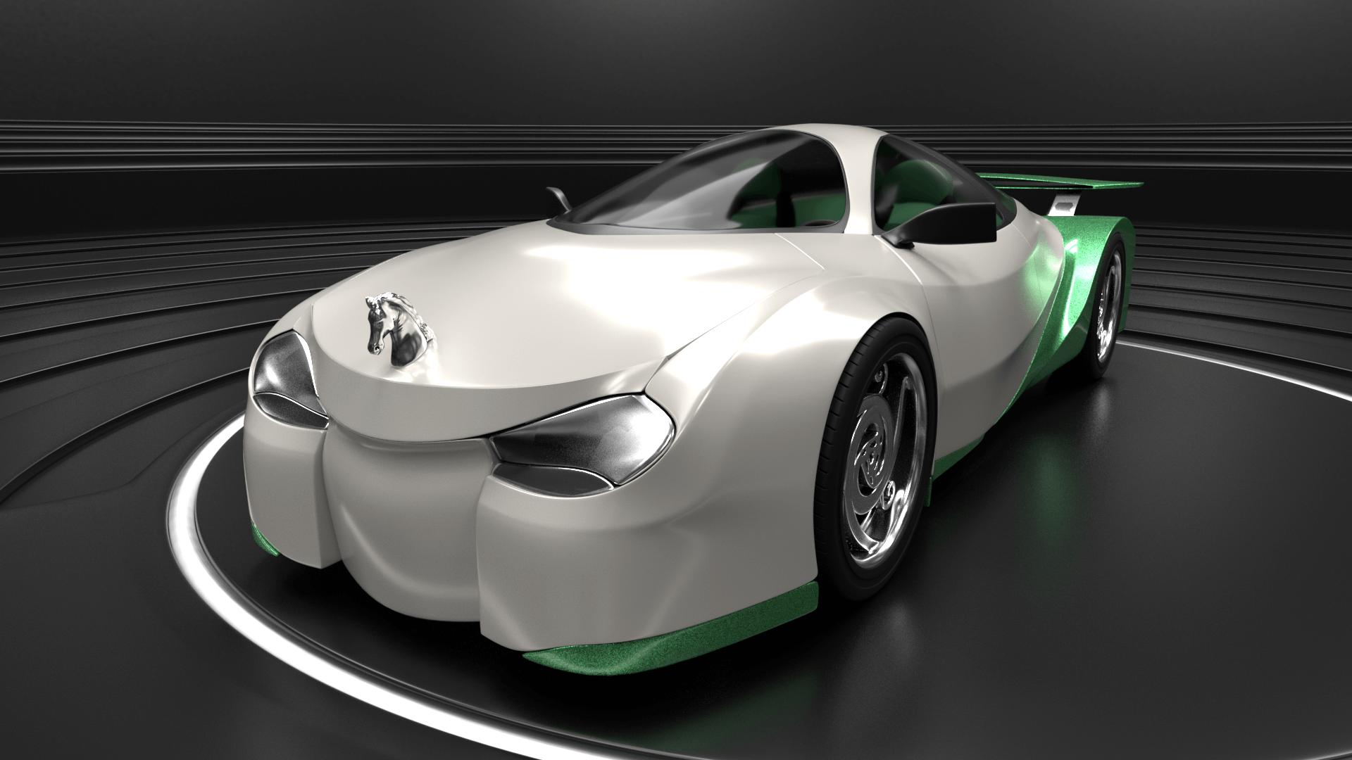 Shrek's Onion Carriage as a supercar 1