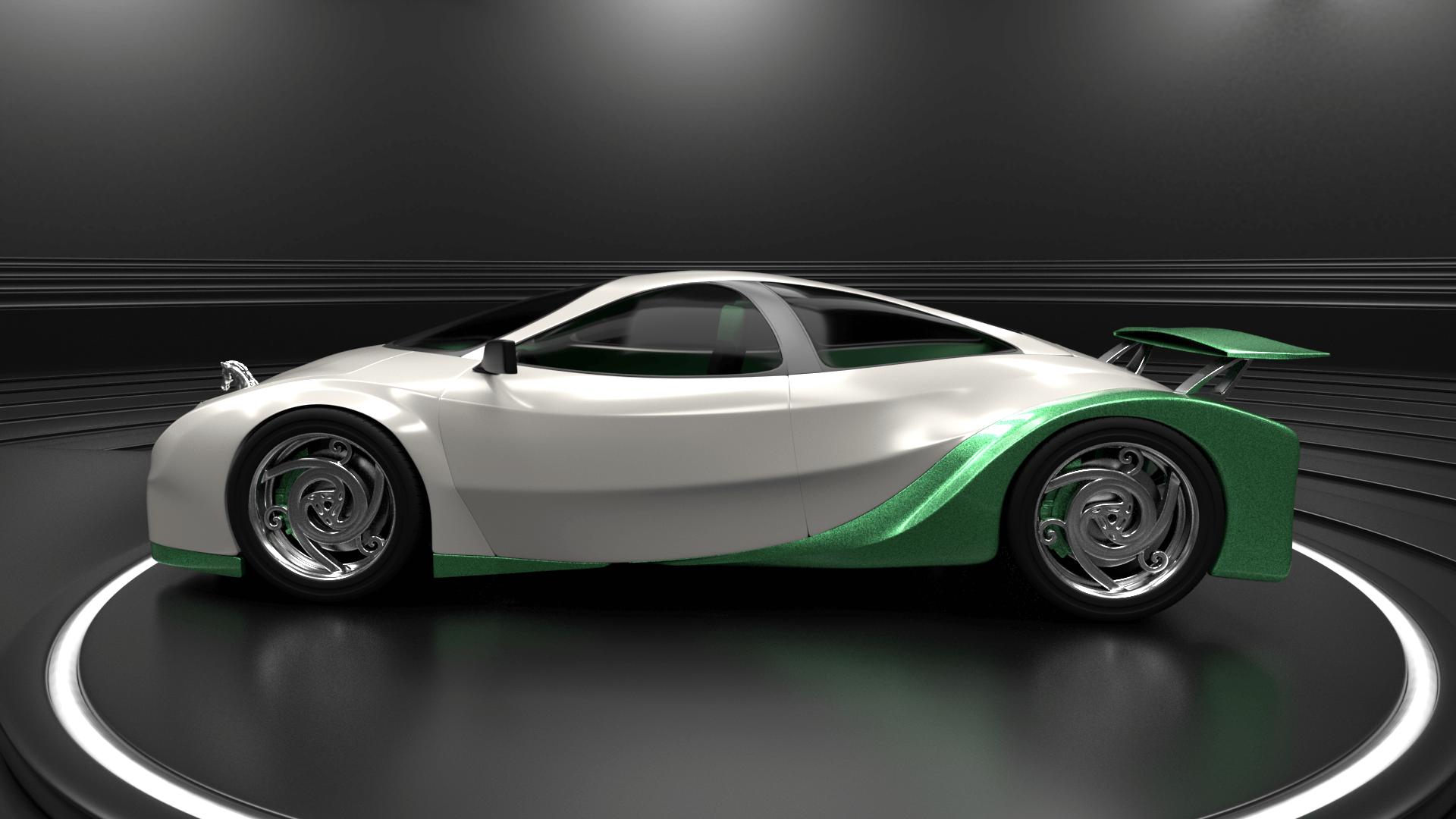 Shrek's Onion Carriage as a supercar 2