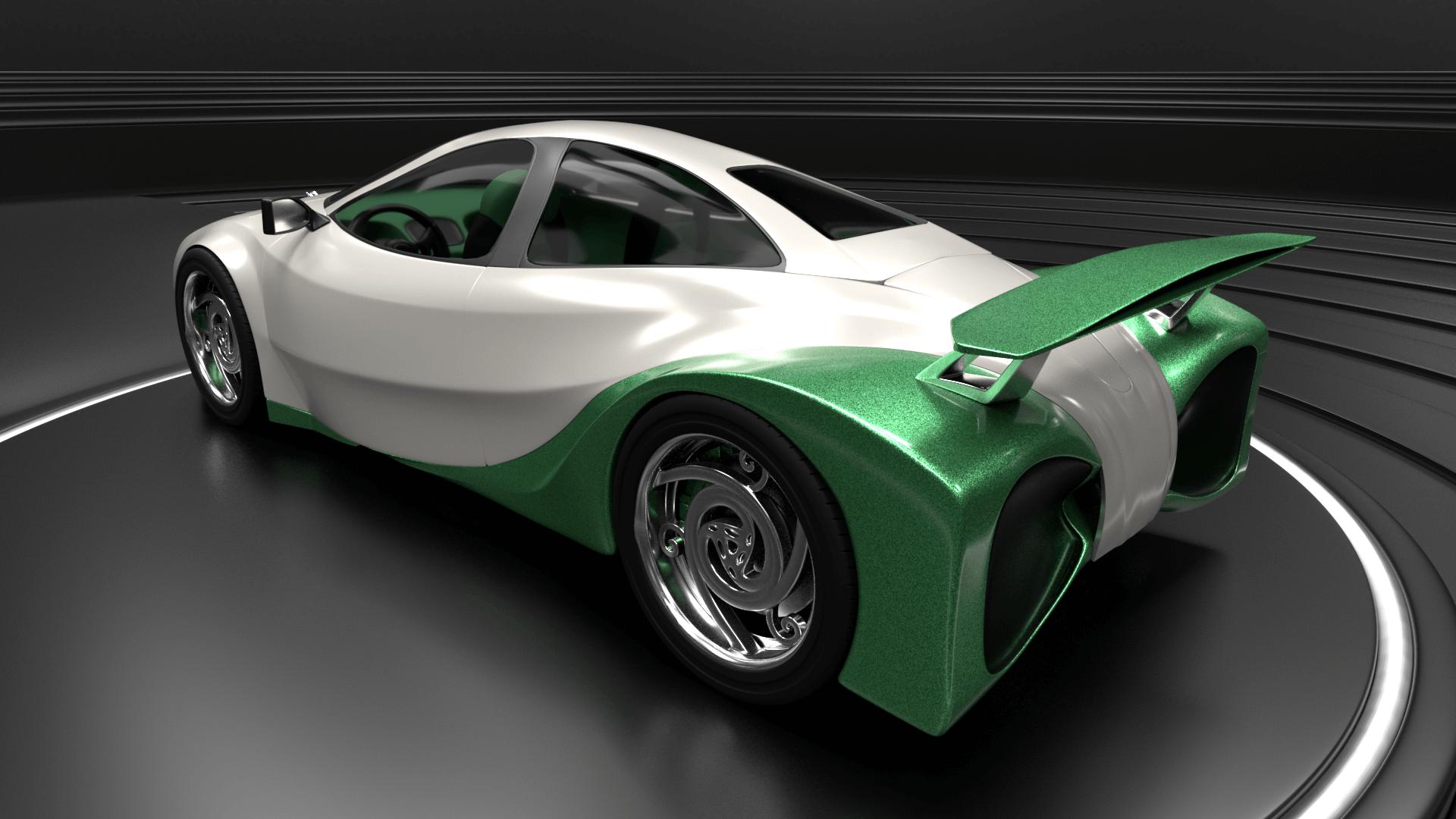 Shrek's Onion Carriage as a supercar 3