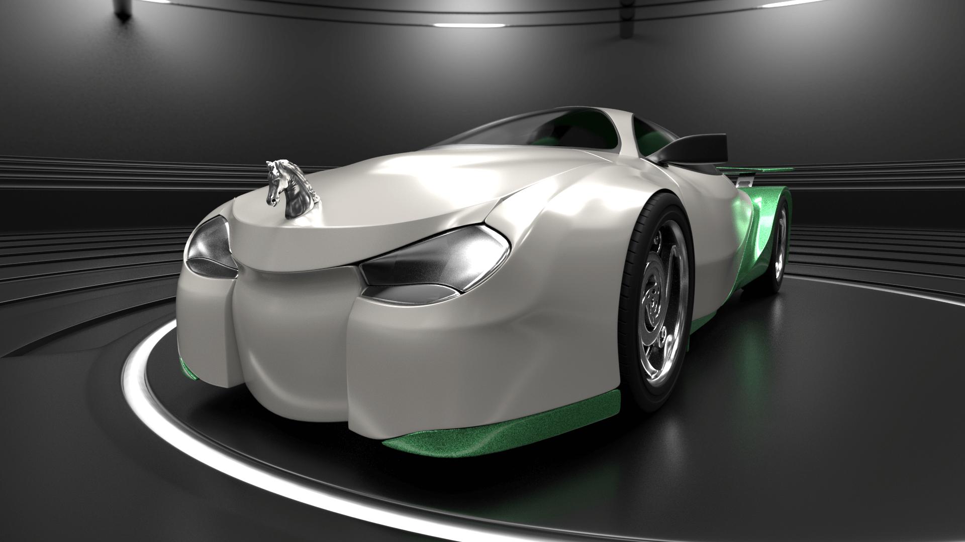 Shrek's Onion Carriage as a supercar 4