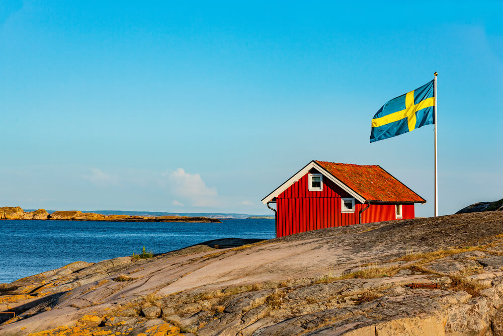 Sweden flag at Skerry Coast