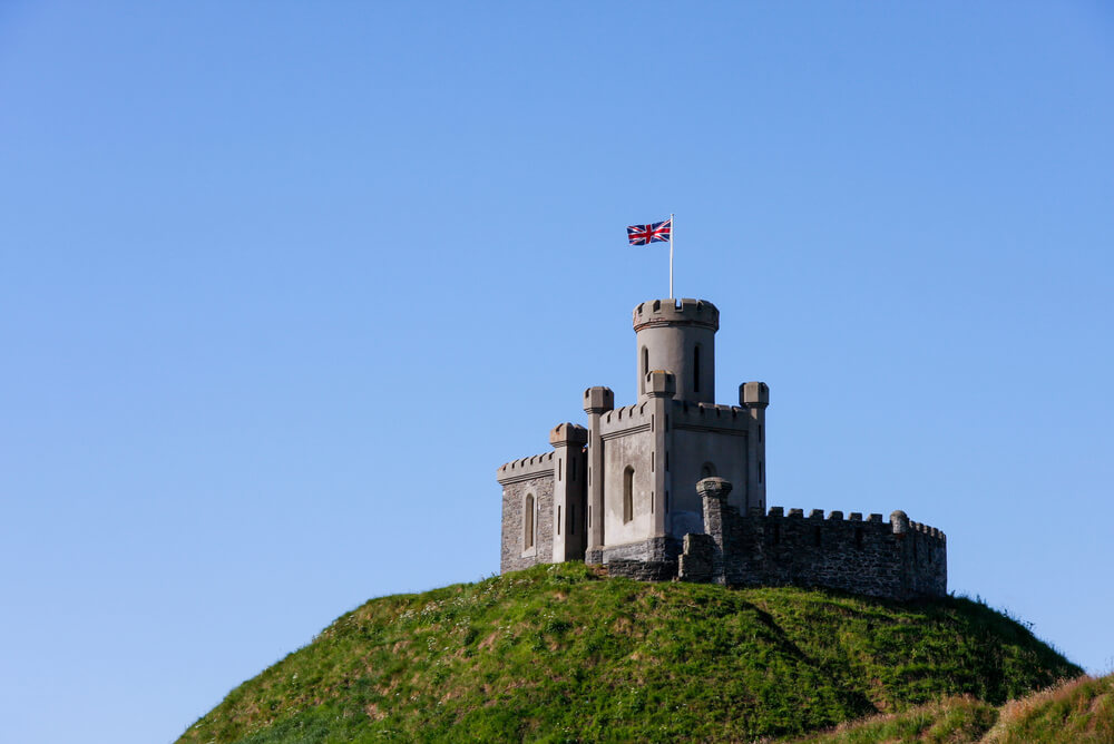 United Kingdom flag at The Moat in Donaghadee
