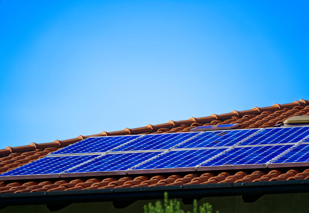 Solar PV system on rooftop