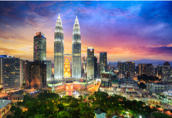 Malaysian city skyline