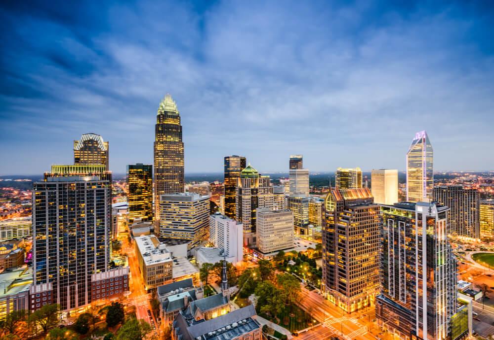 city skyline of North Carolina USA