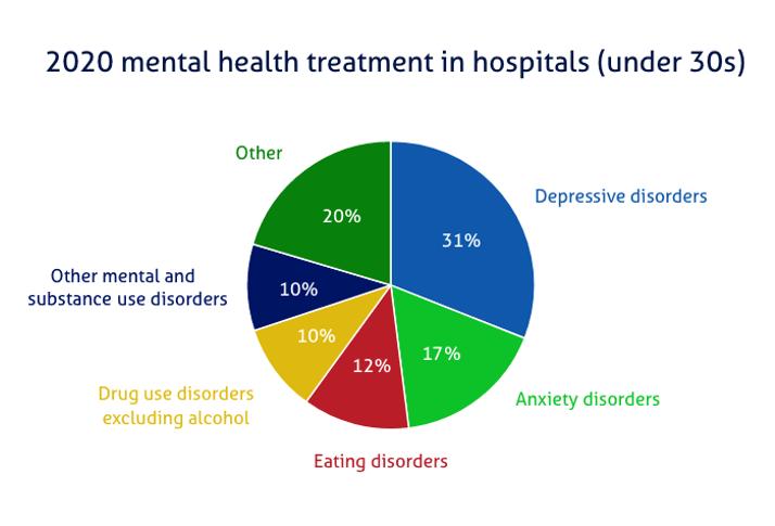 Mental health pie chart