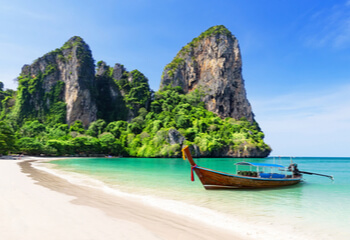 Thailand beach with boat