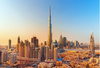United Areb Emirates city skyline