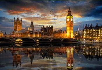 London skyline by night