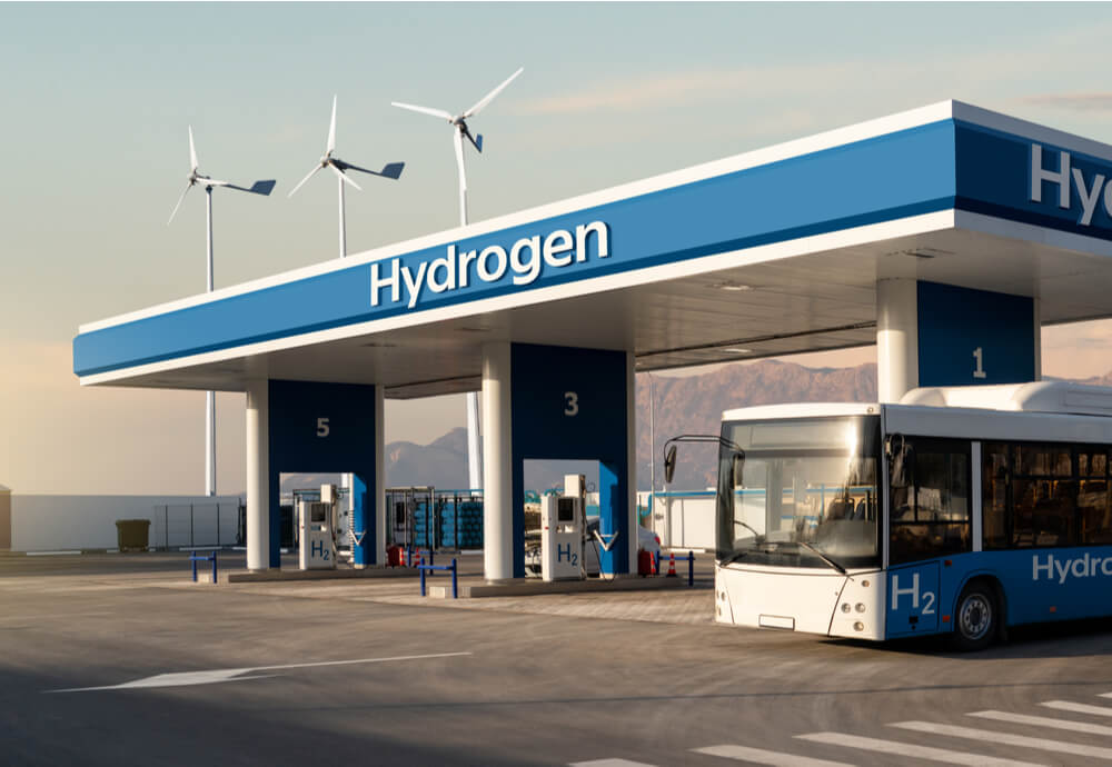 a hydrogen refuelling station concept image